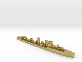 HMS Codrington 1:3000 WW2 destroyer in Natural Brass