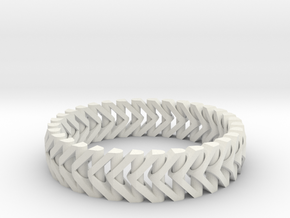PiP Bracelet Version 3 (Articulating) in White Natural Versatile Plastic