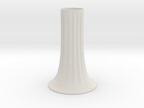 Fluted Vase in Matte Full Color Sandstone