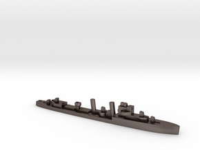 HMS Exmouth 1:1800 WW2 destroyer in Polished Bronzed-Silver Steel