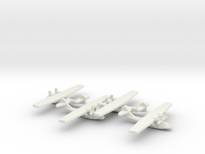US PBY Catalina Flying Boat (x4) in White Natural Versatile Plastic