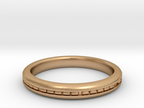 3mm Morse Code Ring [Customisable] - US Size 8 in Natural Bronze: 8 / 56.75