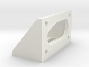 Bracket To Suit DG01D 48:1 MINI DC GearBox in White Natural Versatile Plastic