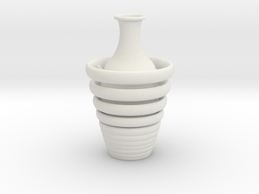 Vase 1359art in White Natural Versatile Plastic