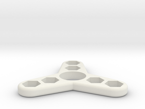 Tri Hex Spinner in White Natural Versatile Plastic