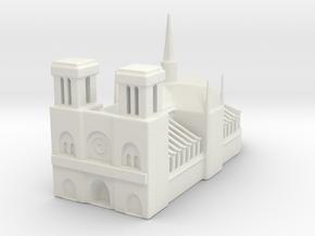 Notre Dame de Paris 1/1250 in White Natural Versatile Plastic