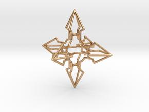 Arrowed Hypercross in Polished Bronze