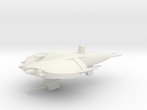 Nietszchean Battlecruiser / 7.5cm - 3in in White Natural Versatile Plastic
