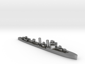 HMS Faulknor 1:3000 WW2 destroyer in Natural Silver