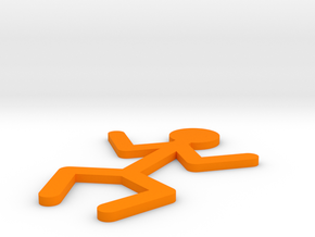 [1DAY_1CAD] STICKMAN_STANDING in Orange Processed Versatile Plastic