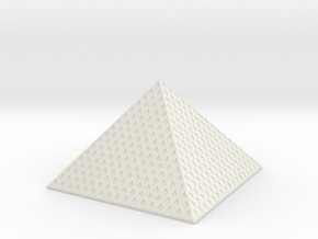 Louvre Pyramid 1/500 in White Natural Versatile Plastic