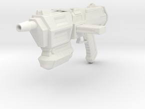 Assault Blaster (1/12 Scale) in White Natural Versatile Plastic