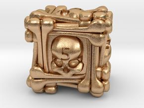 Necromancer's D6 in Natural Bronze