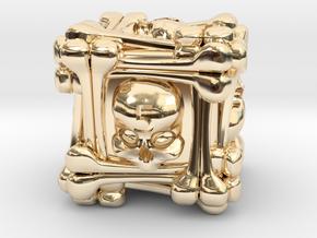 Necromancer's D6 in 14k Gold Plated Brass