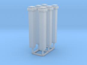 1:160 Brick Chimneys (6) in Smooth Fine Detail Plastic