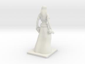 Fantasy Figures 04 - Necromancer in White Natural Versatile Plastic