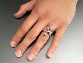 Gekko Ring in Premium Silver