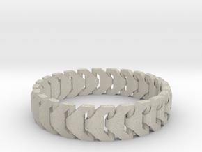 Large Articulating Print in Place Bracelet Version in Natural Sandstone