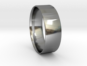 Simplistic Men's Ring  in Polished Silver: 9.5 / 60.25