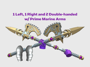 4x Roto Halberd: Phonecian - Prime Set in Smooth Fine Detail Plastic