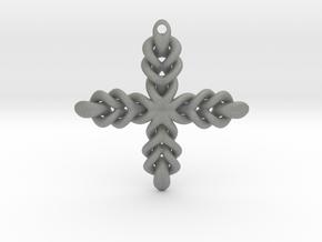 Knot Cross in Gray PA12