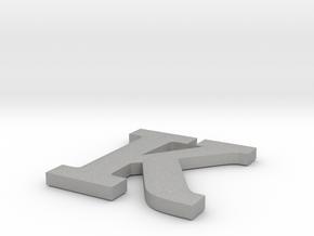 K Paper Weight in Aluminum