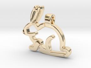 Rabbit in 14K Yellow Gold