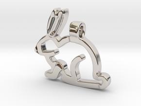 Rabbit in Rhodium Plated Brass