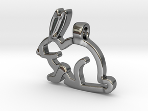 Rabbit in Polished Silver
