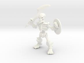 Bone Warrior in White Processed Versatile Plastic
