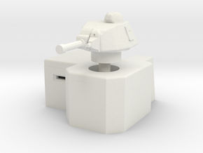 Bunker with Somua S35 turret 1/56 in White Natural Versatile Plastic