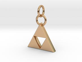 ZD Triforce Charm in Polished Bronze