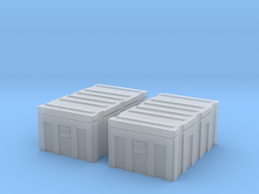 1/35 MILITARY FOOTLOCKER STORAGE BOX 2 PACK in Smooth Fine Detail Plastic