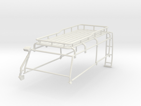 Orlandoo D110 roof rack w/ rear ladder for widebod in White Natural Versatile Plastic