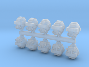 28mm Drop guard heads in Smoothest Fine Detail Plastic