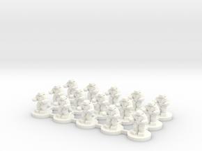 6mm - Battle Automata in White Processed Versatile Plastic