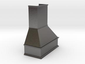Miniature Chimney Hood 1:24 Scale in Polished Nickel Steel
