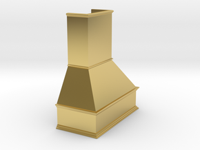 Miniature Chimney Hood 1:24 Scale in Polished Brass