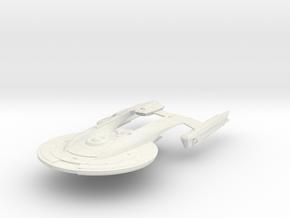 "AKIRA Class Refit IV BattleCruiser 4"" in White Natural Versatile Plastic"