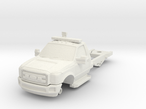 1/87 F550 2 DOOR CHASSIS in White Natural Versatile Plastic