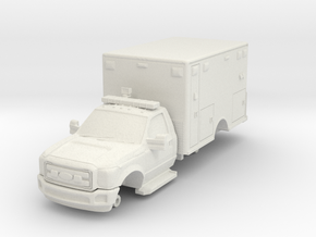 1/87 F550 2 DOOR MEDIC/AMBULANCE in White Natural Versatile Plastic