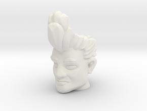 HairDoom Head (Multisize) in White Natural Versatile Plastic: Medium