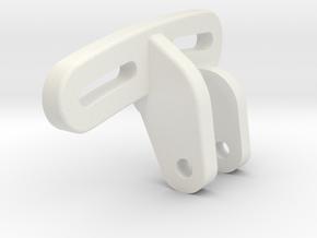 HiLow 10.2 Single Panhard Mount in White Natural Versatile Plastic