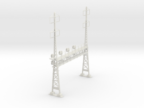 CATENARY PRR LATTICE SIG 4 TRACK 2-2PHASE N SCALE  in White Natural Versatile Plastic
