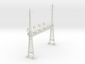 CATENARY PRR LATTICE SIG 4 TRACK 2 PHASE N SCALE  in White Natural Versatile Plastic