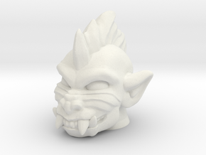 Slobgoblin / Punk Baboon Head (Multisize) in White Natural Versatile Plastic: Medium