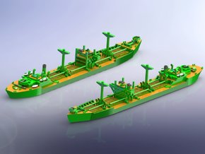 IJN Type 2A Standard Cargo Ship 1/1800 in Smooth Fine Detail Plastic