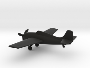 Grumman F4F Wildcat in Black Natural Versatile Plastic: 1:160 - N