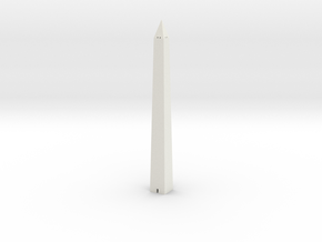 Washington Monument 1/1000 in White Natural Versatile Plastic