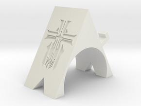 Iron Blood Phone Stand in White Natural Versatile Plastic: Small